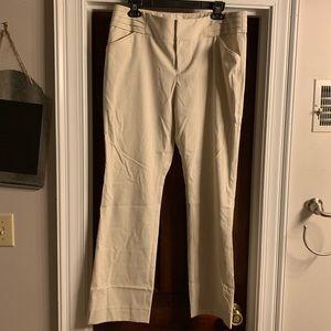 Gianni Bini cream pants slacks size 12